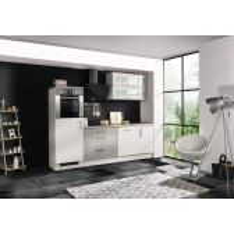 Meister Premium softclose keuken 260cm wit/betonlook incl. apparatuur