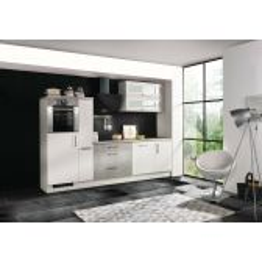 Meister Premium softclose keuken Design 290cm  wit/betonlook inclusief apparatuur