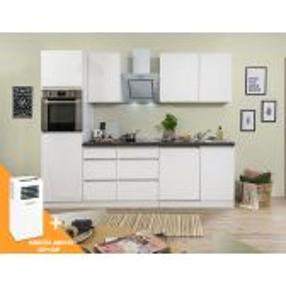 Meister Premium complete greeploze keuken 280cm wit hoogglans