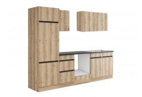 OPTIfit KAYA 2742OE keuken - Wild eiken - 270cm