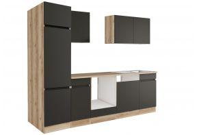 OPTIfit NOAH 2702OE keuken - Wild eiken / antraciet - 270cm