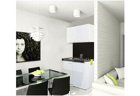 Meister Keukenblok 100K met bovenkast wit/wit