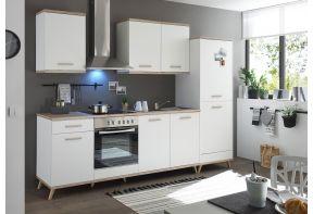 Meister Retro keuken Premium in de woonkeuken - 275cm - trendy wit met eiken