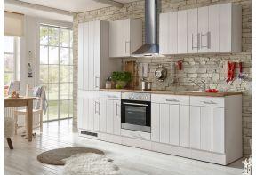 Landelijke keuken wit met hout inclusief apparatuur