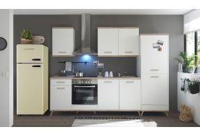 Meister Retro keuken Premium - 330cm - wit - inclusief apparatuur