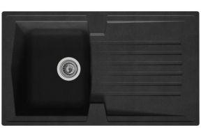 Inbouwspoelbak Boston 86x50 zwart