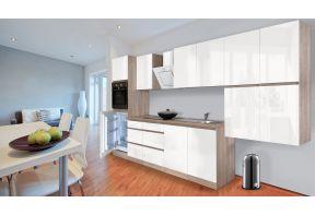 Complete keuken Meister Premium 370cm Eiken hoogglans met hoogglans witte deuren in een woning