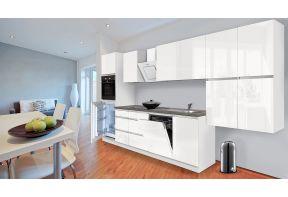 Meister Complete keuken Premium 380cm Wit hoogglans als open keuken.
