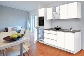 Premium keuken Meister 270 cm wit incl. apparatuur
