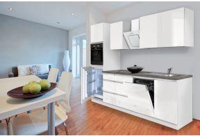 Greeploze keuken Eiken/Wit met vaatwasser