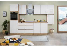 Complete Meister keuken Premium in hoogglans wit en eiken