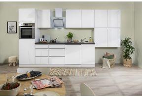 Meister complete keuken Premium 380cm wit in hoogglams