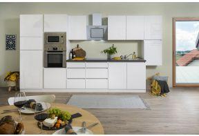 Complete keuken Meister Premium 385cm in wit hoogglans