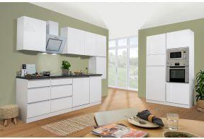 Greeploze dubbel blok keuken met hoogglans witte fronten