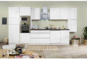 Meister extra lange keuken van 395cm in hoogglans wit