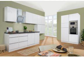 Greeploze keuken Meister Premium in hoogglans wit in dubbel blok opstelling