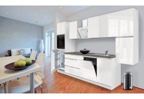 Greeploos keuken Meister 330cm wit incl. apparatuur hoogglans wit