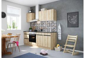 OPTIfit KAYA 212E keuken met apparatuur - Wild eiken - 210cm