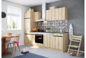 OPTIfit KAYA 2702E keuken met apparatuur - Wild eiken - 270cm