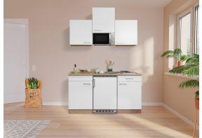 Kleine meister keuken met eiken corpus en witte fronten
