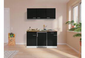 Kleine meister keuken 150 cm breed, zwarte corpus