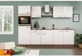 Complete keuken Meister NEw York 270cm inclusief apparatuur en witte fronten