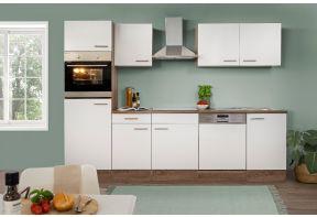 Complete keuken Meister New York 280cm met vaatwasser met witte fronten