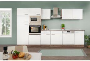 Zelfbouw keuken Meister New York 340cm incl. apparatuur in wit