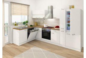 Meister hoekkeuken Economy - 310 cm - Wit - inclusief apparatuur voor een appartement