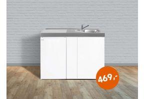 ACTIEKEUKEN - Stalen keukenblok Stengel Easyline ME120 - Koelkast Links