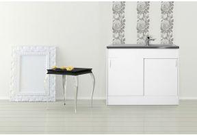 Meister keukenblok 10L met spoelbak - kaal met schuifdeuren -1