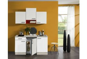 Klick-kleine-keuken-150cm met inbouw en wandkasten