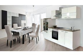 Meister keuken met gaskookplaat wit - wit