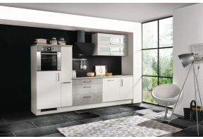 Meister Design-H keuken Beton 290cm wit met Apothekerskast in een nieuw bouw woning
