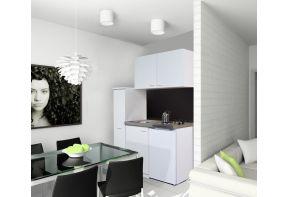 Keukenblok Meister 130K met apothekerskast WIT