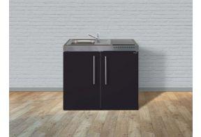 Modern stalen keukenblok van Stengel in zwart
