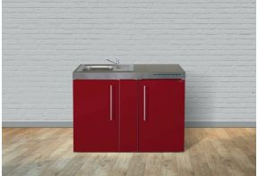 Keukenblok kleur met RVS ombouw