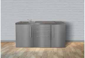 MPGS170 RVS Mini Keuken met koelkast en vaatwasser