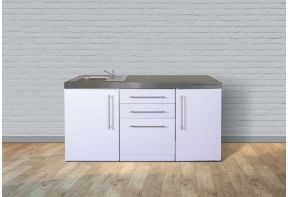 Keukenblok Stengel MPGS170 Wit met koelkast en vaatwasser