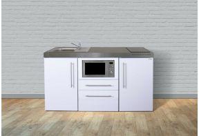 Keukenblok Stengel MPM160 Wit met magnetron en koelkast