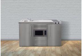 Minikeuken Limatec MPM150 RVS met koelkast en combi magnetron