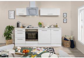 Meister hoogglans witte keuken met vaatwasser