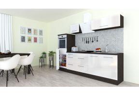 Meister Design Eiken/Grijs met witte deuren inclusief apparatuur.