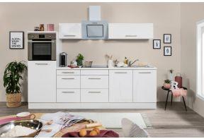 Meister Design keuken met halfhoge kast, hoogglans wit.