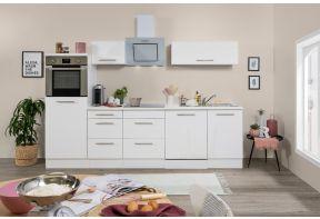 Meister Design-H keuken 280 cm Wit met vaatwasser in hoogglans wit