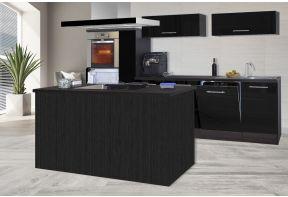 Meister kookeiland Premium 310cm eiken grijs met zwarte fronten