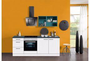 Klick-kleine-keuken-210cm-blauw-wandkastrek
