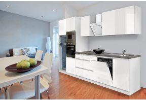 Compleet greeploze witte keuken voorzien van apparatuur